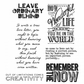 Tim Holtz Cling Rubber Stamp Set - Random Quotes