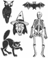Tim Holtz Cling Rubber Stamp Set - Retro Halloween