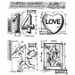 Tim Holtz Cling Rubber Stamp Set - Valentine Blueprint
