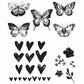 Tim Holtz Cling Rubber Stamp Set - Watercolor