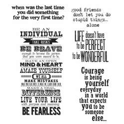 Tim Holtz Cling Rubber Stamp Set - Way With Words - Click to enlarge