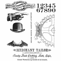 Tim Holtz® Cling Stamps - Dapper