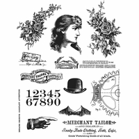 Tim Holtz Cling Stamps - Ladies & Gentlemen