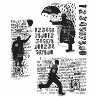 Tim Holtz Cling Stamps - Sideshow