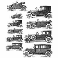 Tim Holtz Cling Stamps - Vintage Auto