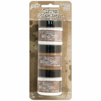 Tim Holtz® Distress Collage Mini Mediums 3 Pkg - Vintage, Matte & Crazing