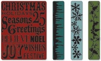 Sizzix Texture Fades A2 Embossing Folders By Tim Holtz® - Christmas Background & Borders