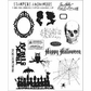 Tim Holtz Large Cling Rubber Stamp Set - Mini Halloween #3