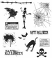 Tim Holtz Large Cling Rubber Stamp Set - Mini Halloween