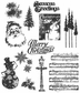 Tim Holtz Large Cling Rubber Stamp Set - Mini Holidays #2
