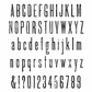 Tim Holtz Large Cling Rubber Stamp Set - Tall Text