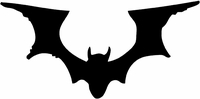 Tim Holtz Red Rubber Stamp - Bat Silhouette