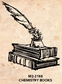 Tim Holtz Red Rubber Stamp - Chemistry Books
