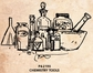 Tim Holtz Red Rubber Stamp - Chemistry Tools