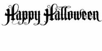 Tim Holtz Red Rubber Stamp - Halloween Scroll