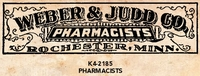 Tim Holtz Red Rubber Stamp - Pharmacists