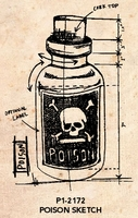 Tim Holtz Red Rubber Stamp - Poison Sketch