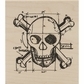 Tim Holtz Red Rubber Stamp - Skull Sketch