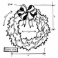 Tim Holtz Red Rubber Stamp - Wreath Sketch