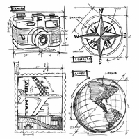 Tim Holtz® Stamps - Blueprint Series