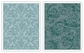 Tim Holtz Texture Fades Embossing Folders - Damask & Regal Flourishes