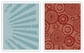 Tim Holtz Texture Fades Embossing Folders - Rays & Retro Circles