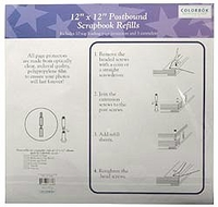 "Top Loading 3-Hole Page Protectors - 12""x12"""