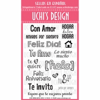 Uchi's Design Spanish Clear Stamp Set - With Love (Con Amor)