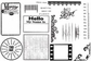 Unmounted Red Rubber Stamps - Capture Life
