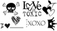 Unmounted Red Rubber Stamps - Love Is Toxic