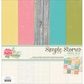 "Vintage Bliss Simple Basics Paper Kit 12""x12"""