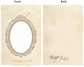 "Vintage Chipboard 2-Piece Frame Cover 5""x7"" - Oval"