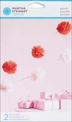 Vintage Girl Pom Pom Garland - Pink - Click to enlarge