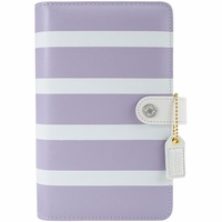 Webster's Pages Color Crush A2 Faux Leather Personal Planner Kit - Lavender Stripe