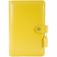 Webster's Pages Color Crush A2 Faux Leather Personal Planner Kit - Yellow