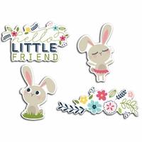 Welcome Spring Cardstock Die-Cuts - Bunny Friends