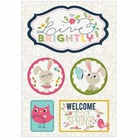 Welcome Spring Dimensional Stickers Live Brightly