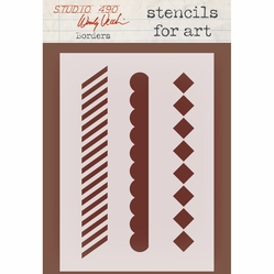 Wendy Vecchi Studio Stencil Collection - Borders - Click to enlarge