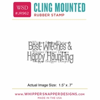 "Whipper Snapper Cling Stamp 2.5""x3.5"" - Best Witch"