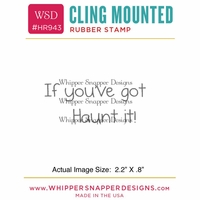 "Whipper Snapper Cling Stamp 2.5""x3.5"" - Haunt It!"