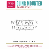 "Whipper Snapper Cling Stamp 2.5""x3.5"" - Witch Way"