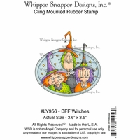 "Whipper Snapper Cling Stamp 4""x6"" - Bff Witches"