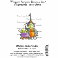"Whipper Snapper Cling Stamp 4""x6"" - Boil & Trouble"
