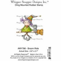 "Whipper Snapper Cling Stamp 4""x6"" - Broom Ride"
