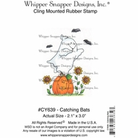 "Whipper Snapper Cling Stamp 4""x6"" - Catching Bats"