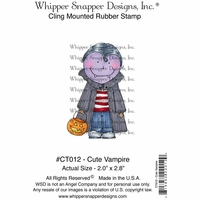 "Whipper Snapper Cling Stamp 4""x6"" - Cute Vampire"