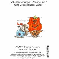 "Whipper Snapper Cling Stamp 4""x6"" - Finders Keepers"