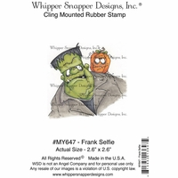"Whipper Snapper Cling Stamp 4""x6"" - Frank Selfie"