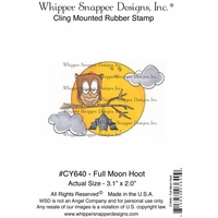 "Whipper Snapper Cling Stamp 4""x6"" - Full Moon Hoot"