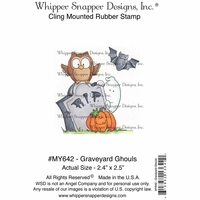 "Whipper Snapper Cling Stamp 4""x6"" - Graveyard Ghouls"